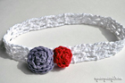 Crochet V Stitch Headband free crochet pattern